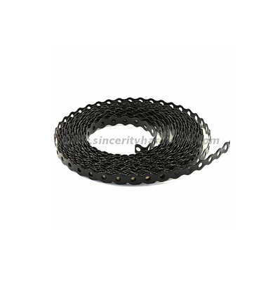 Galvanized wood connector strapping band