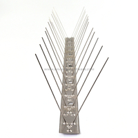 SHSS-85: 2 Rows Flexible Base Stainless Steel Bird Spikes To Resist Bird And Animal
