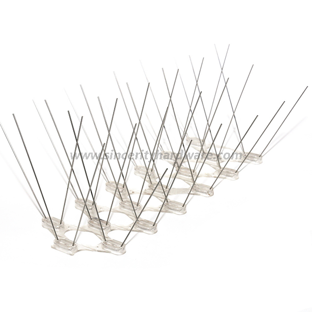 SHPC-28 Best Quality Plastic And Stainless Steel Pigeon Spikes for Sale